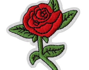 ID 5025 Tan Roses On Vine Large Patch Flower Bloom Embroidered Iron On Applique