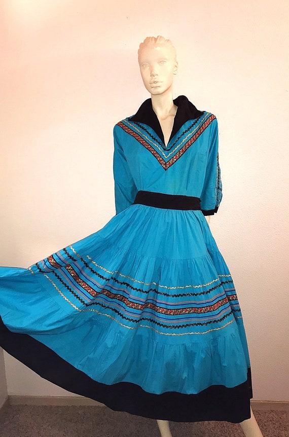 50s Dress - 1950'sTwo Piece - Vintages Patio Dress
