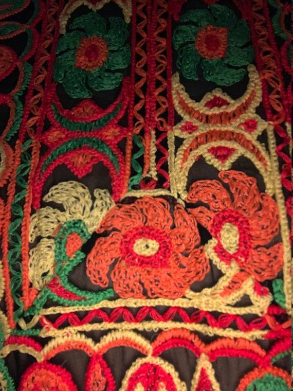 70s Boho Maxi Dress SUZANNE CUTOM ORIGINAL Patchw… - image 7