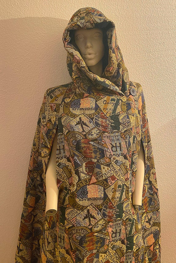 70s Hooded Cape, QUEEN of CAPES Full Length Hooded