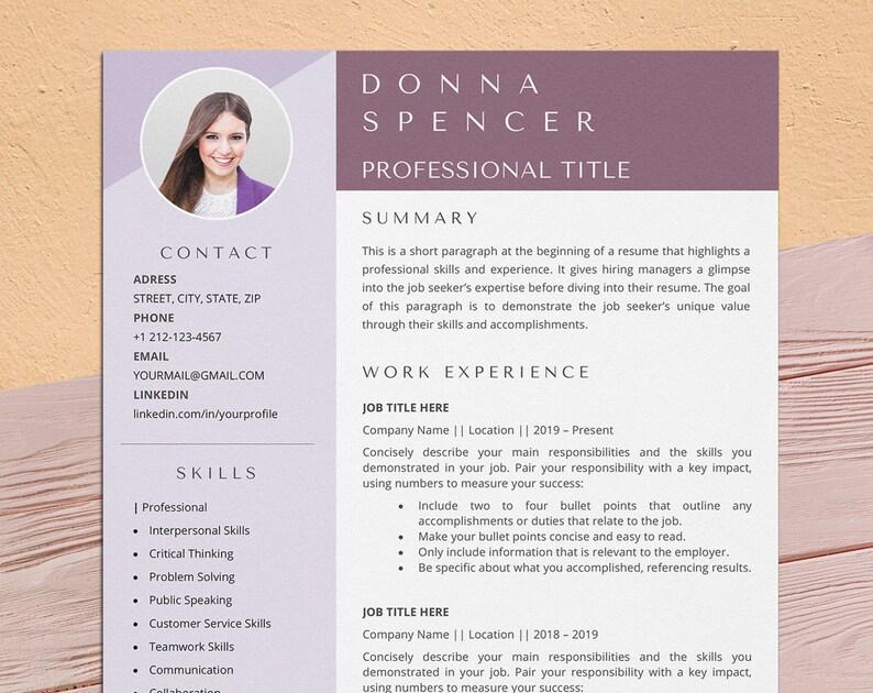 Professional Resume Template Word Creative Design Modern image 0