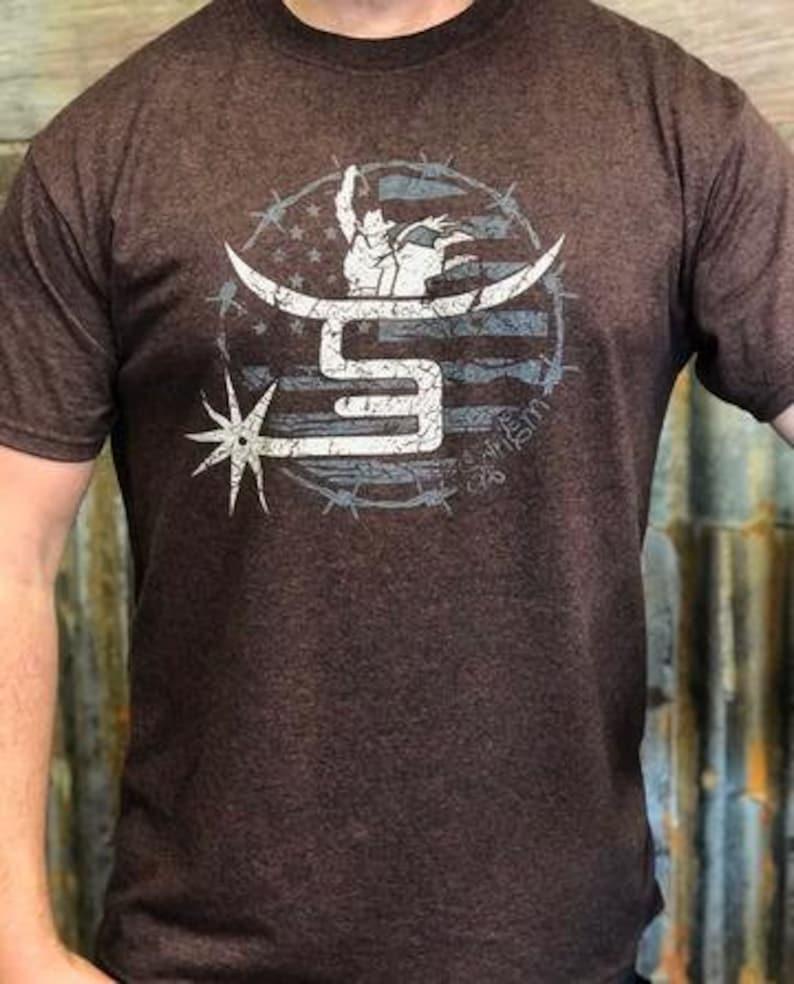 Spin Em/' Men/'s T-Shirt Bullrider