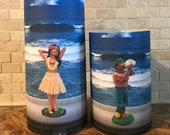 Dashboard Hula Girl and Guy, Choose your Set, Flameless Candles, Hula, Dashboard Hula Guy, Candles, Led Candles, Hawaiian Candles