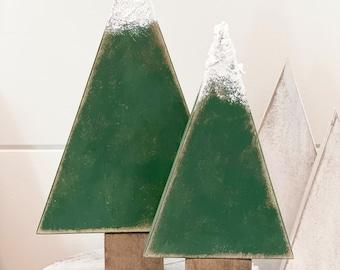 Wood trees, woodland Christmas, winter decor, Christmas decor, woodland, rustic Christmas, neutral Christmas, Christmas trees