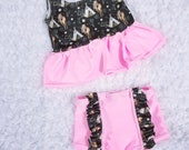 Girls Boho Swimsuit High Waisted Bathing Suit Baby Girls High Waisted Ruffle Bikini