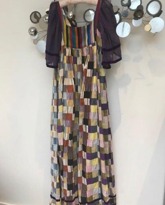 1970s Thea Porter vintage patchwork rare dress U.K
