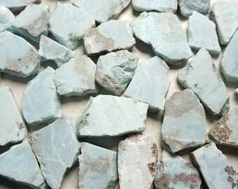 Larimar (Dominican Republic) Lot - Rough Raw - Natural Gemstone Crystal - 5 10 or 25 grams - Healing Reiki Chakra