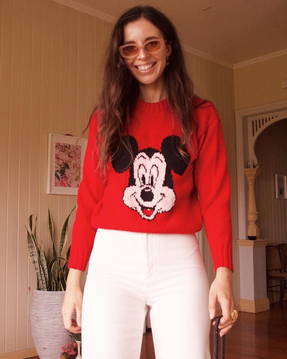 Handmade Mickey Mouse knit sweater