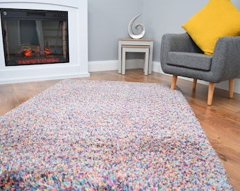 Jelly Bean Design Bright Rug Mat Living Room Bed Lounge Kids Playroom 70MM Pile