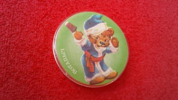 Teddy bear. Icon. Potapych. Soviet antique plastic