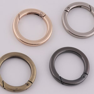 25mm Inner metal spring o ring clasps spring gate ring spring o ring clasp push gate snap hooks 2-4-10pcs 1