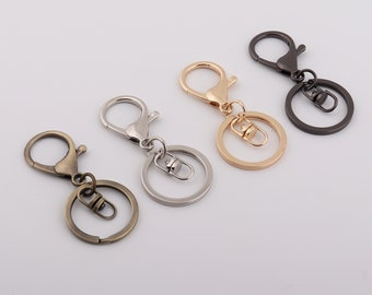 68mm length lobster keychain clasp,keychain with lobster clasp,flat key ring split ring,key snap clip hook,key ring clasp 1-2-4-10pcs