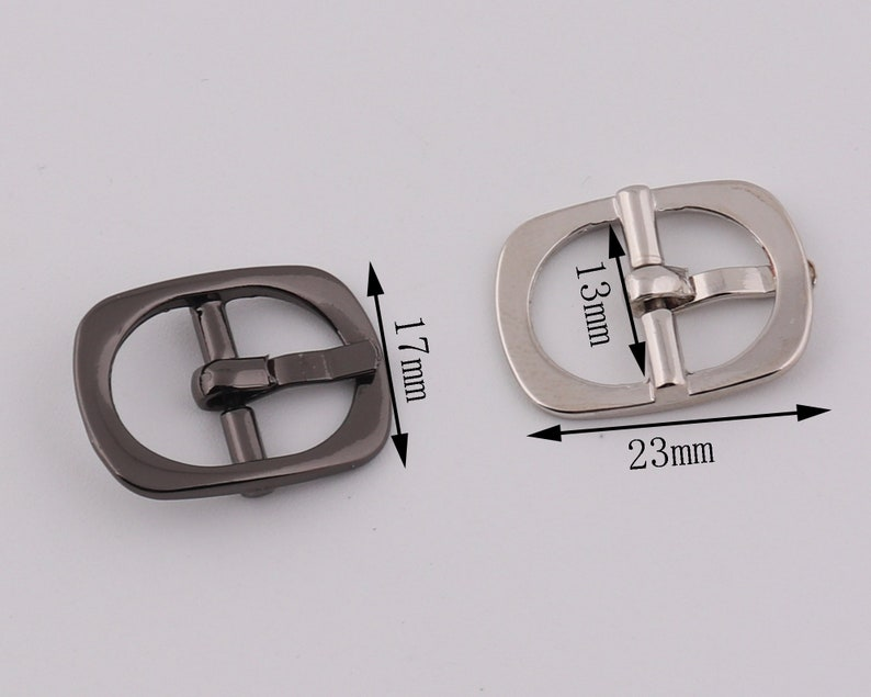 12 13mm Inner metal roundness belt buckle plated buckle single prong strap buckle adjuster buckle purse buckle bags hardware  2-4-10pcs