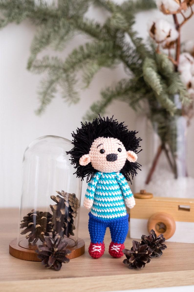 Hedgehog Lucas PDF  Padestyle crochet pattern  Amigurumi  Tutorial Digital Download