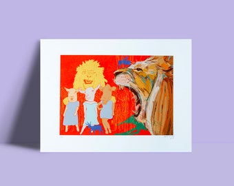 Artwork 'The lion and the other animals'