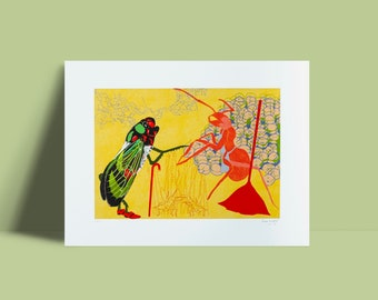 Artwork 'The grasshopper and the ant'