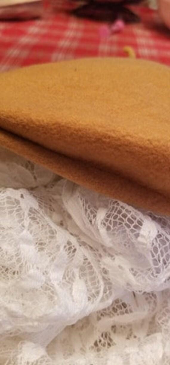 Tan Wool Beret - image 7