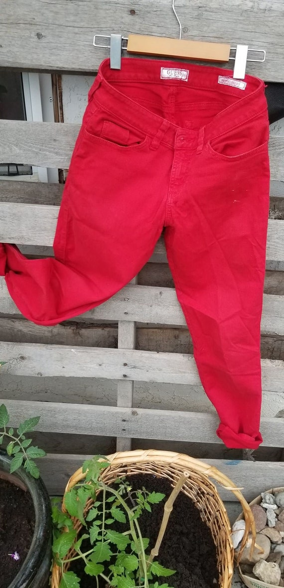 Red Guess Jeans older Classic