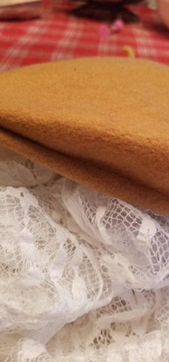 Tan Wool Beret - image 1