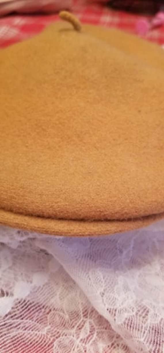 Tan Wool Beret - image 4