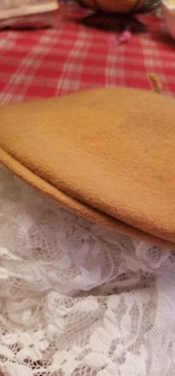 Tan Wool Beret - image 5
