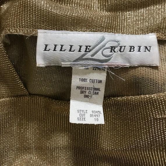 Vintage Lillie Rubin Short Sleeve Gold Metallic S… - image 7