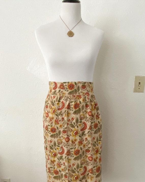 Vintage 1940s Floral Skirt