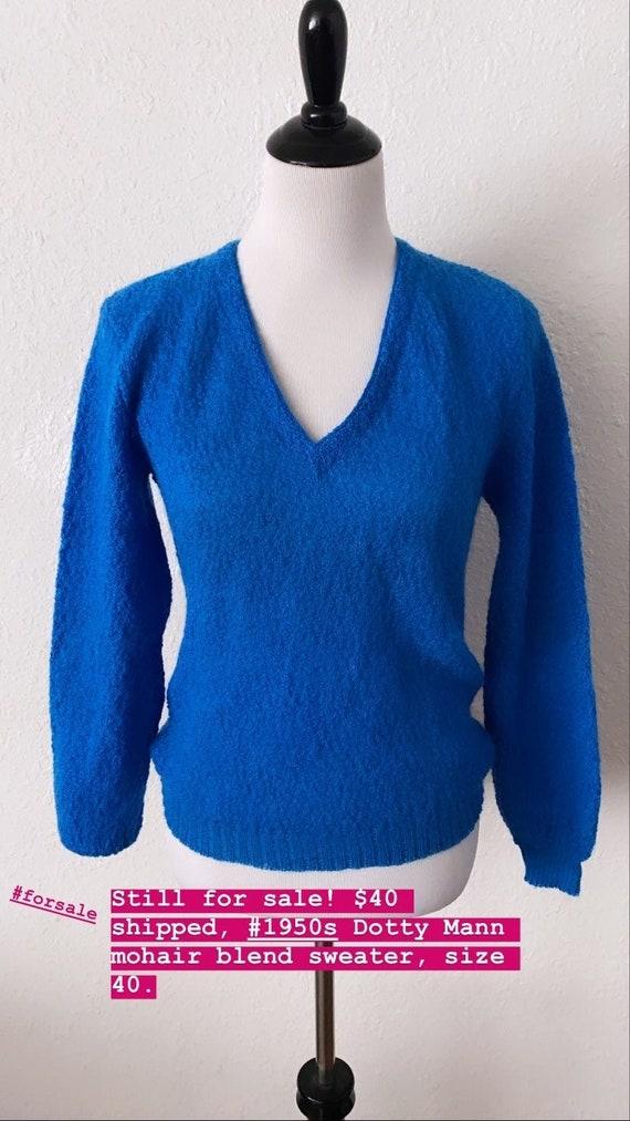 Vintage 1950s Dotty Mann Mohair Blend Sweater