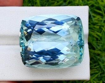 Steps Terminations Damage Free Natural Aquamarine Blue Color Aquamarine Crystal 53*50*32 mm 93 Gram