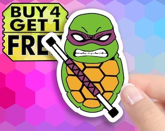 Slash Vinyl Sticker TMNT Ninja Turtles Skateboard Laptop Decal Classic 80s