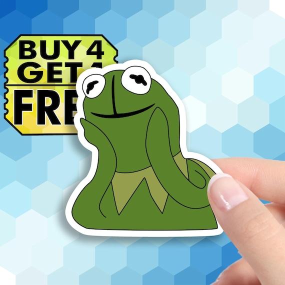 Kermit Love Sticker Hilarious Meme Stickers Macbook Stickers Etsy