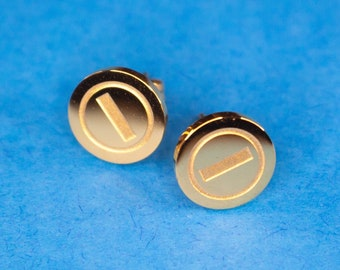 Gold Coin Studs