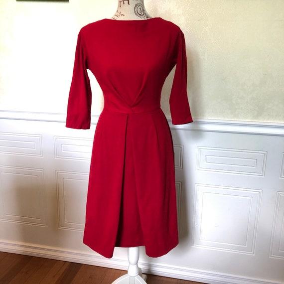 1950's Red Wiggle Dress