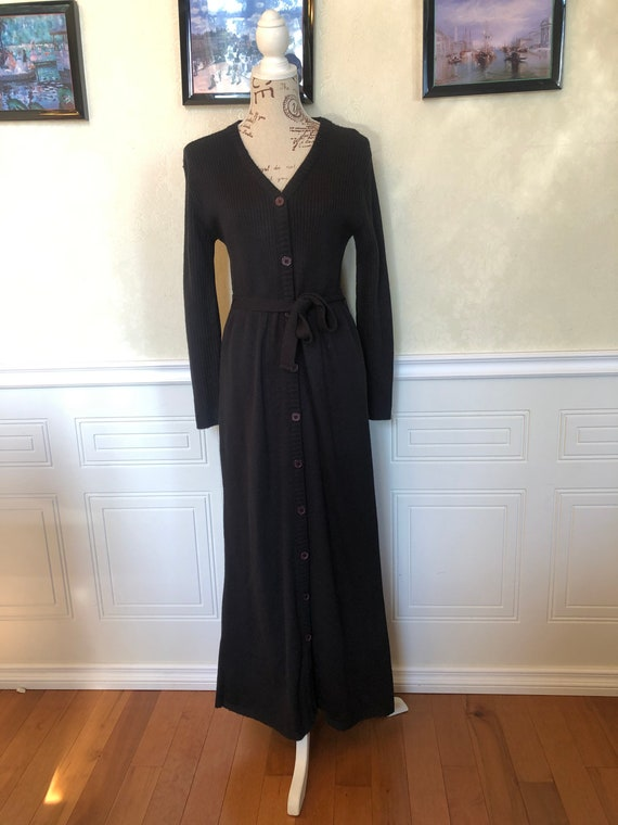 Vintage Black Knit Dress