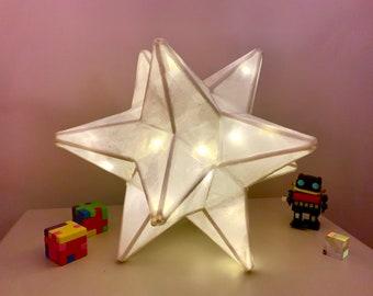 Pentagon Star Lamp, Paper Star Lantern, Nightlight