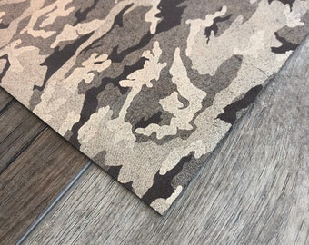 Golden Brown Camouflage Genuine Leather Sheets for Earrings