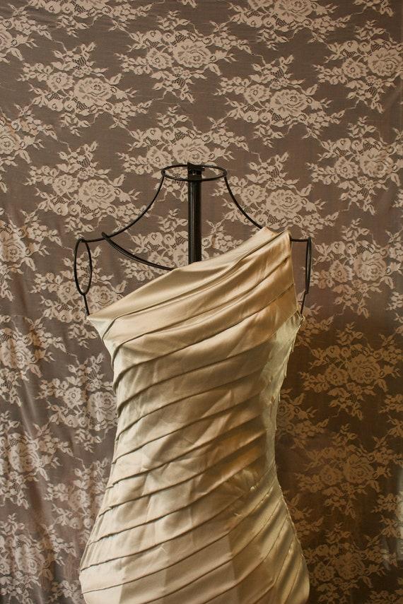 Retro 1990s Silk Side-Slit Dress