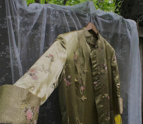Vintage Chinese Cheongsam Overcoat