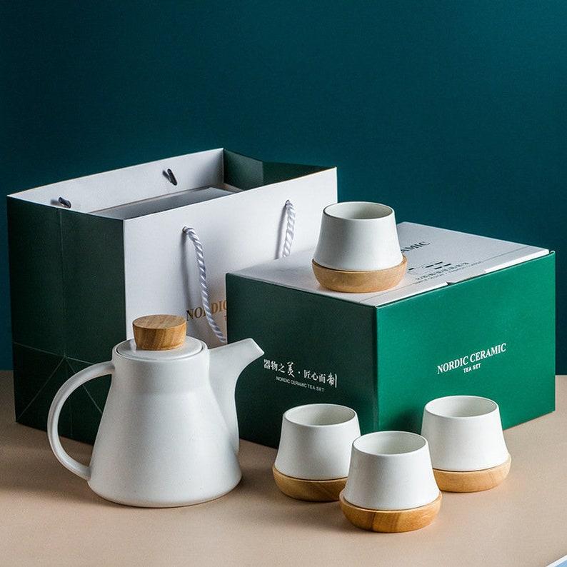 Porcelain Ceramic Teaset teapot gift set 1X 750ml Ceramic