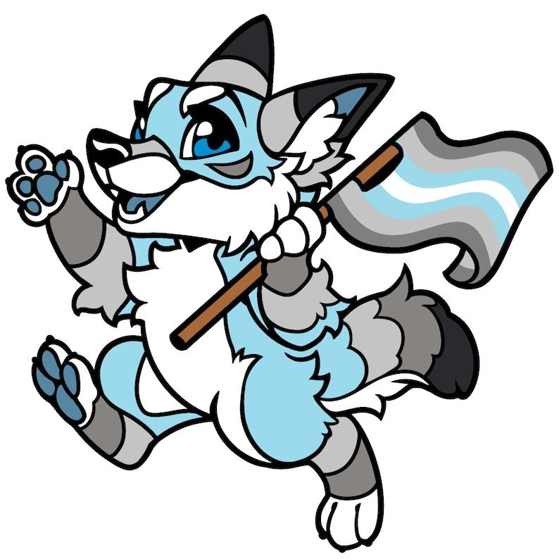 Fursona Pins Demiboy Coyote Pride Pin