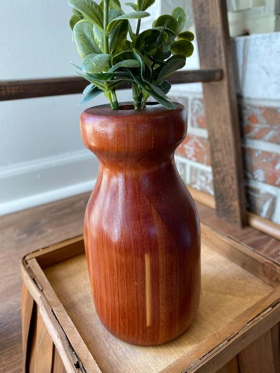 Cedar Wooden Vase