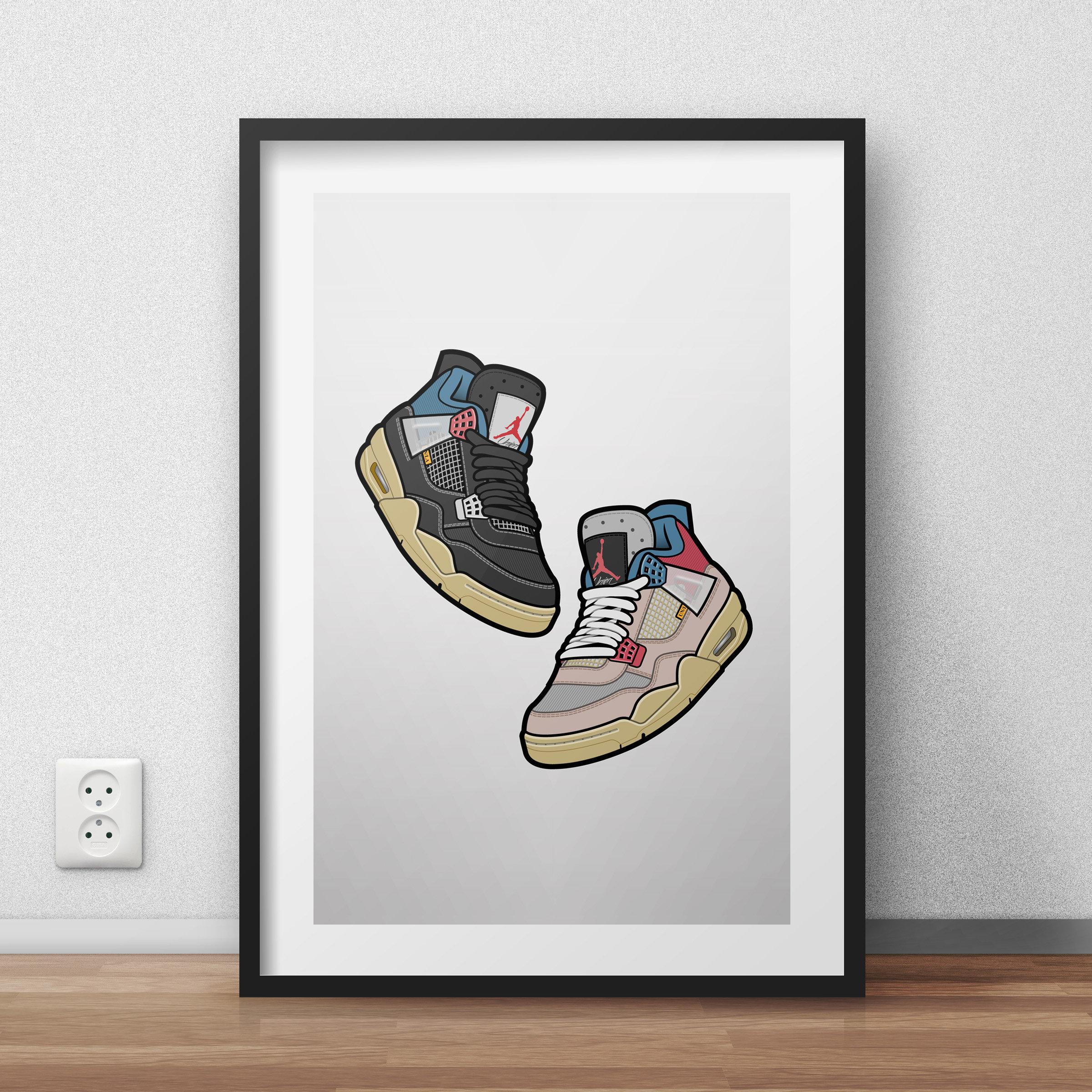 Digital download - Air Jordan 4 Union floating duo poster