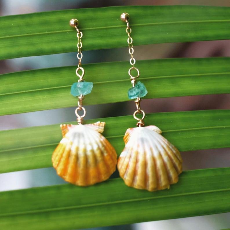 Sunrise shell earrings image 0