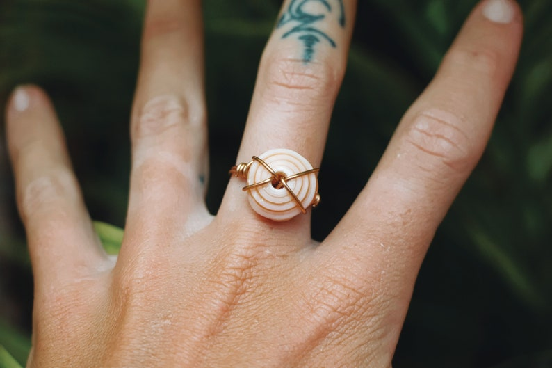Puka shell ring image 0