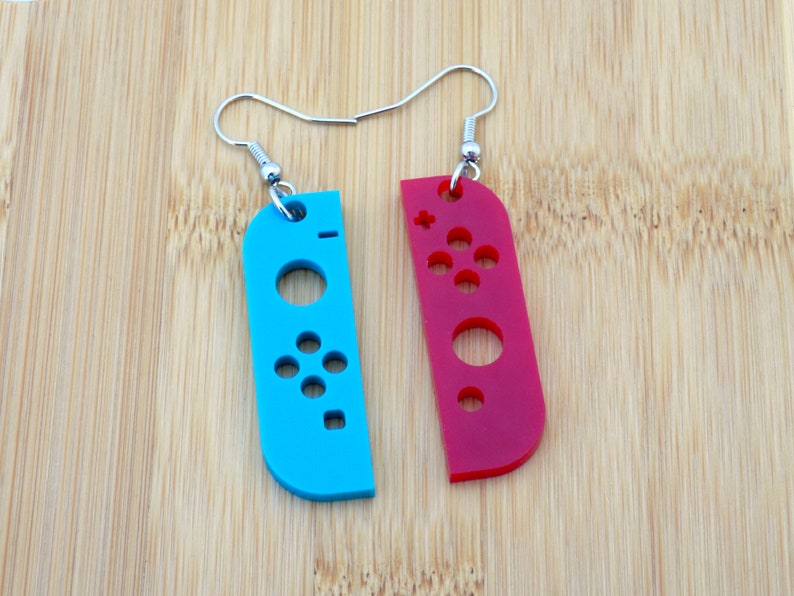 Switch Joycon-inspired Acrylic Earrings Solid or Translucent image 0