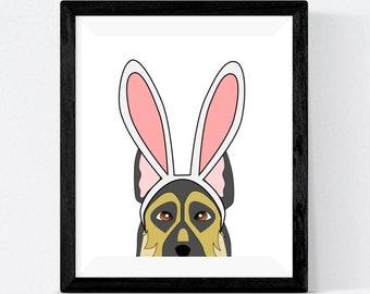 German Shepherd Dog Animal Wall Decor Art Print Picture 8x10