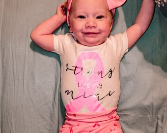 Cancer Survivor Breast Cancer Awareness Baby Onesie Someone I Love Has Cancer Cancer Awareness