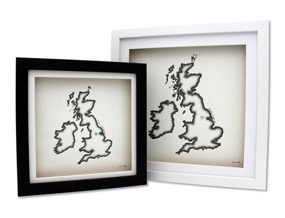 Hand Drawn Personalised Map of the British Isles