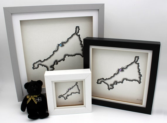 Personalised Hand Drawn Map of Cornwall