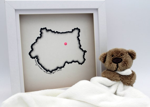 Personalised Hand Drawn Map, Perfect for a New Baby, Christening or Birthday Present